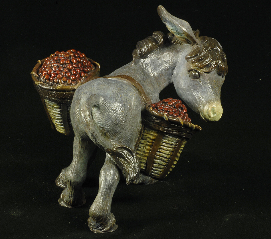 Donkey Art Sculpt Bronze Edition Chrisitne Knapp