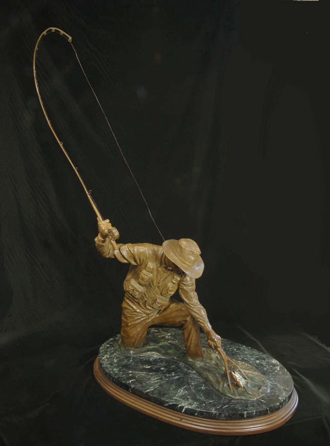 Catch and Release Bronze Sculpture Art