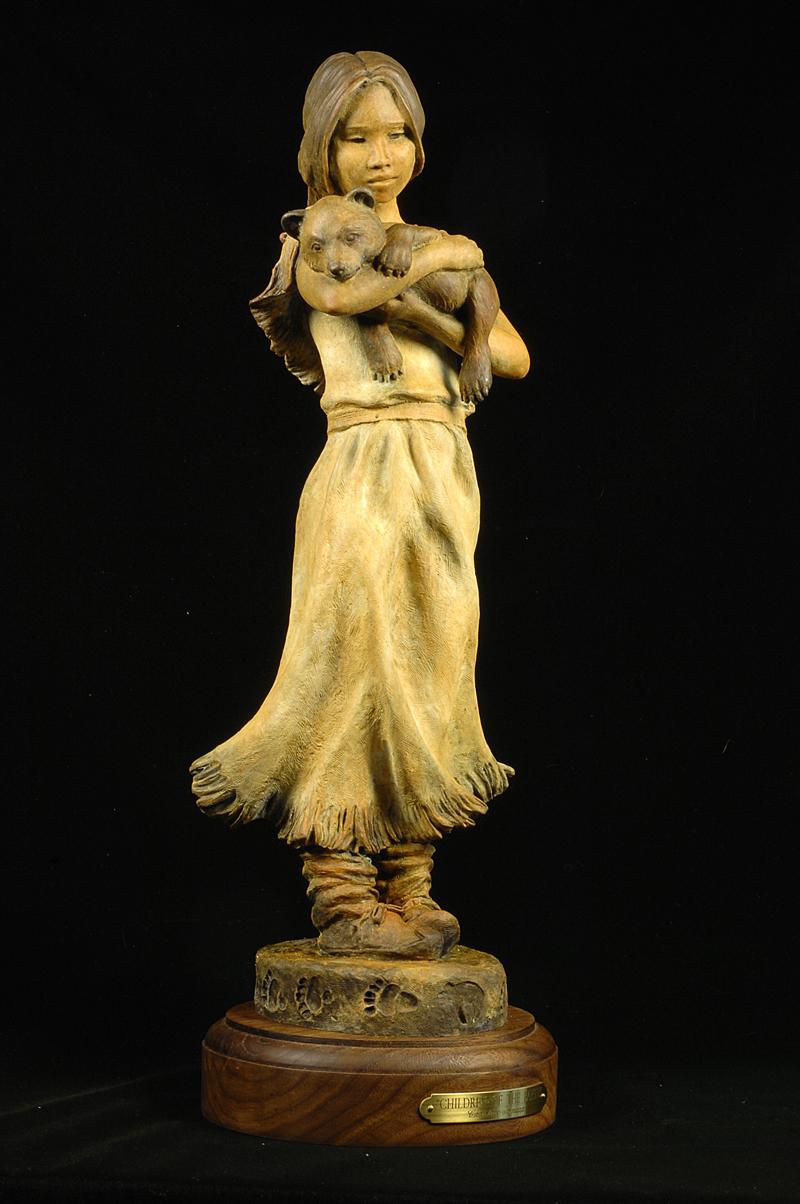 Native American Art Indian Sculpture Bronze Christine Knapp