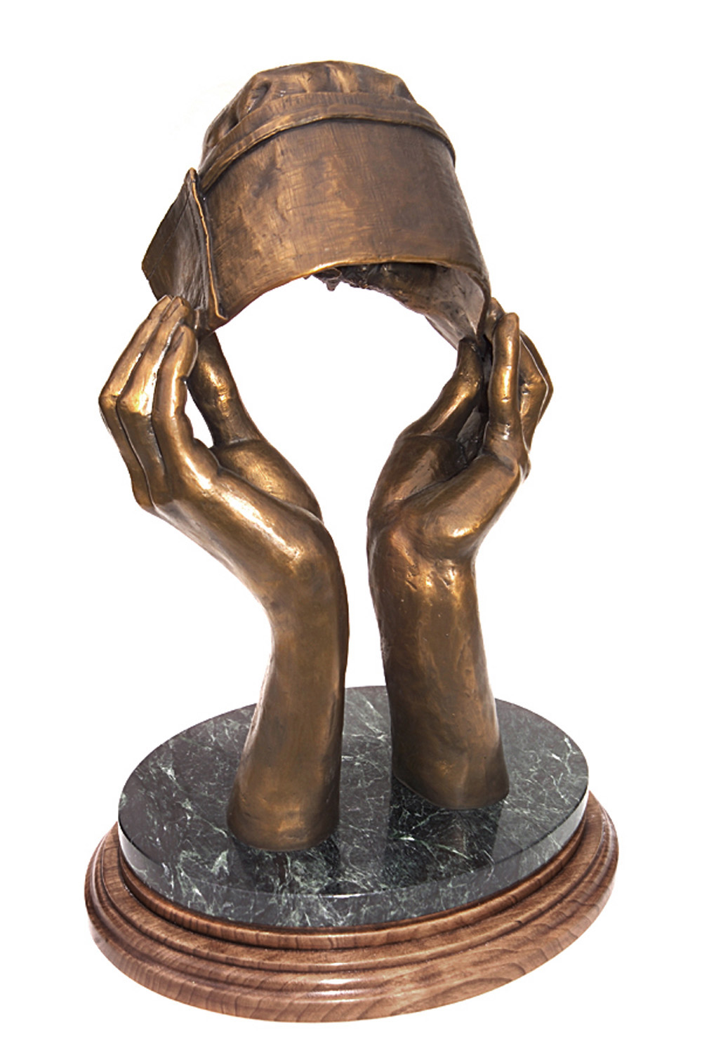 Nurse Hat Bronze Sculpture Art