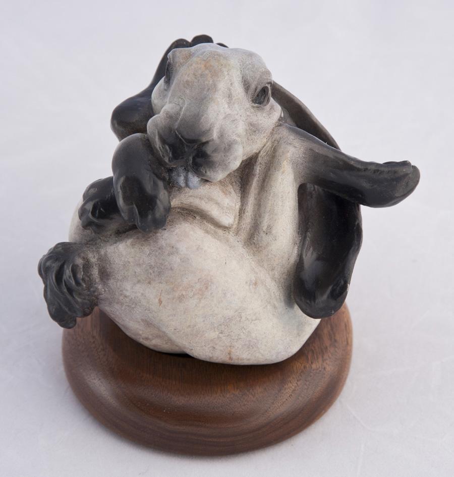 Rabbit Hare Bronze Artist Animal Wrappers Christine Knapp