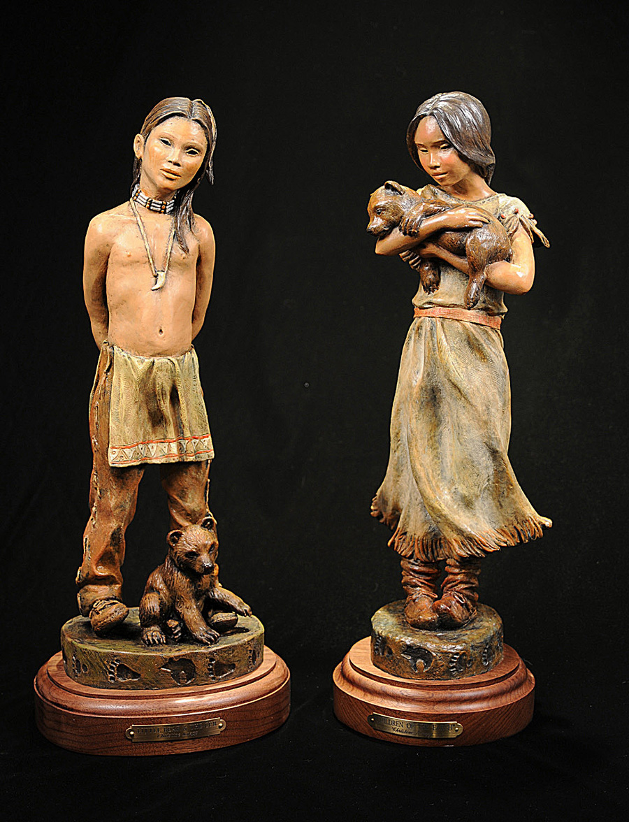 Native American Art Bronze Cast