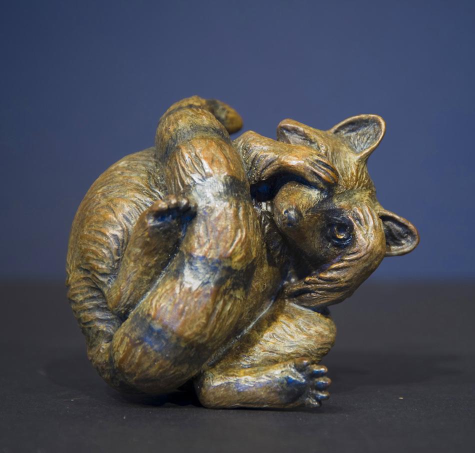 Raccoon Bronze Art