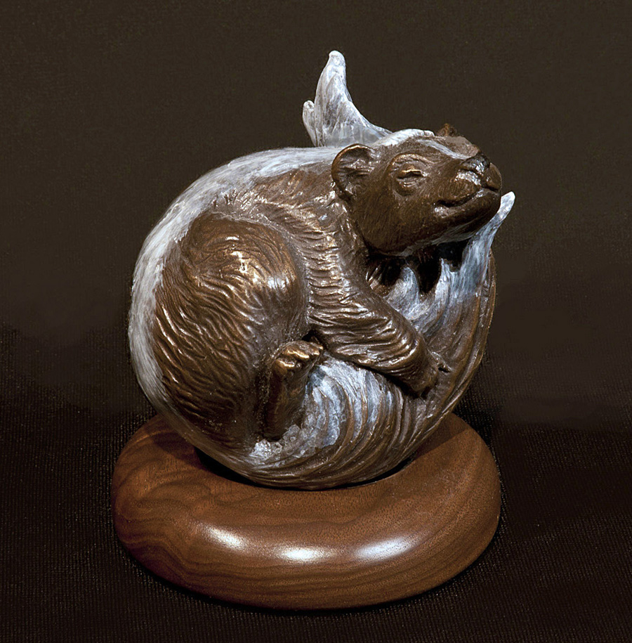 Bronze Art Skunk Animal Wrappers Christine Knapp