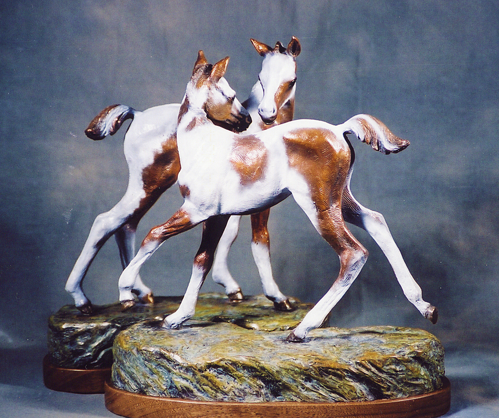 Horse Sculpture-Christine Knapp-Foalin1