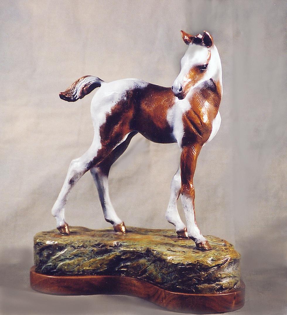 Horse Sculpture-Christine Knapp-Foalin2