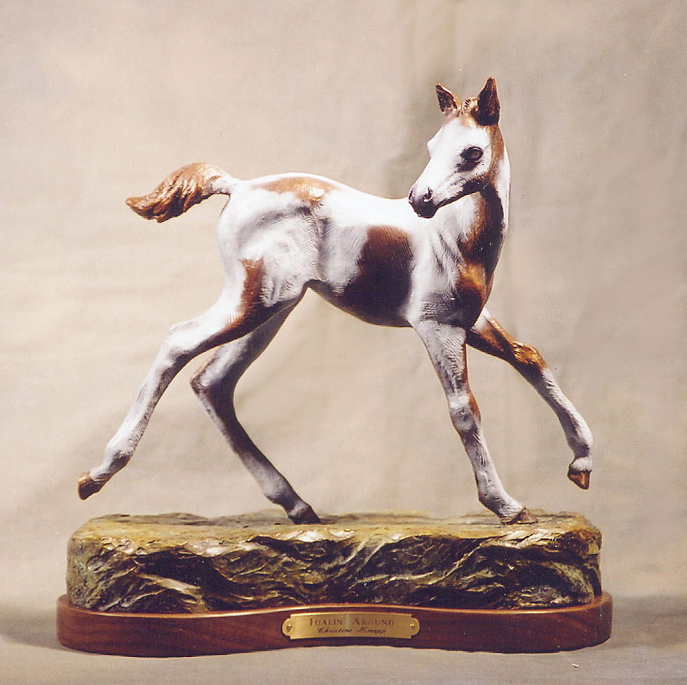 Horse Sculpture-Christine Knapp-Foalin3