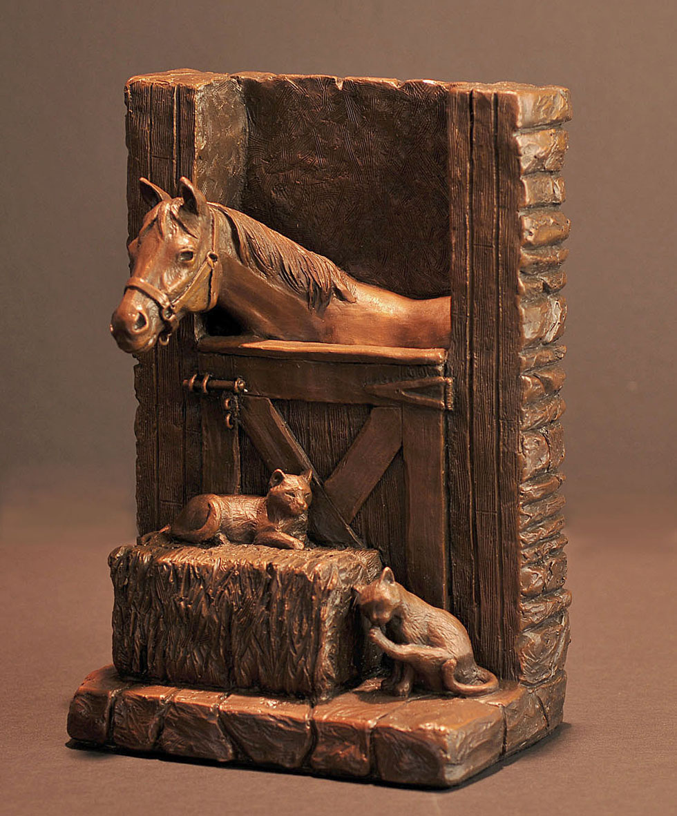 Horse Sculpture-Christine Knapp-Stable1