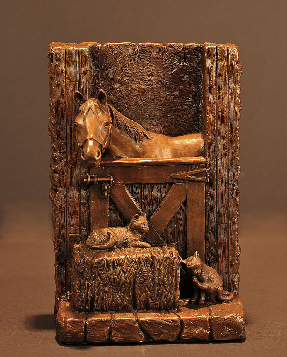 Horse Sculpture-Christine Knapp-Stable2