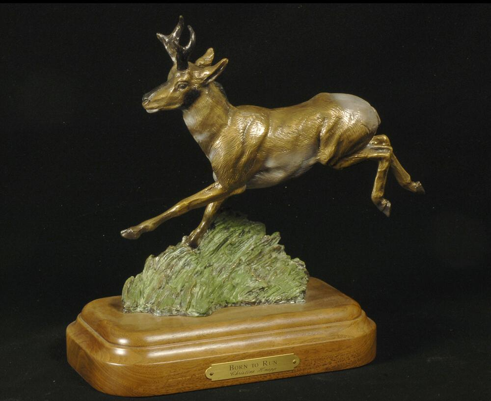Pronghorn Sculpture-Christine Knapp-Born2