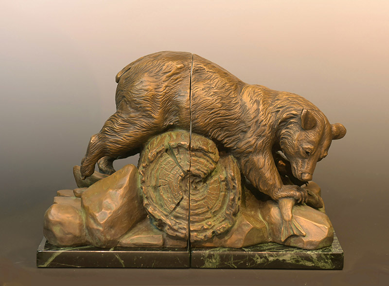 bear sculpture bookend christineknapp