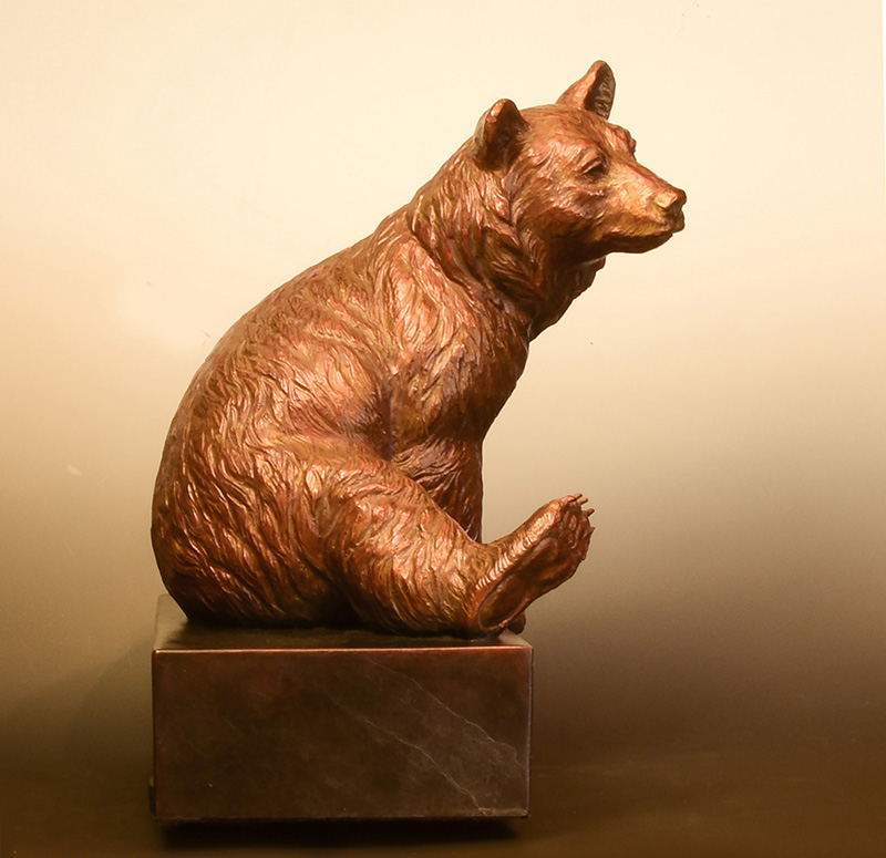 black bear sculpture-christine knapp bronze