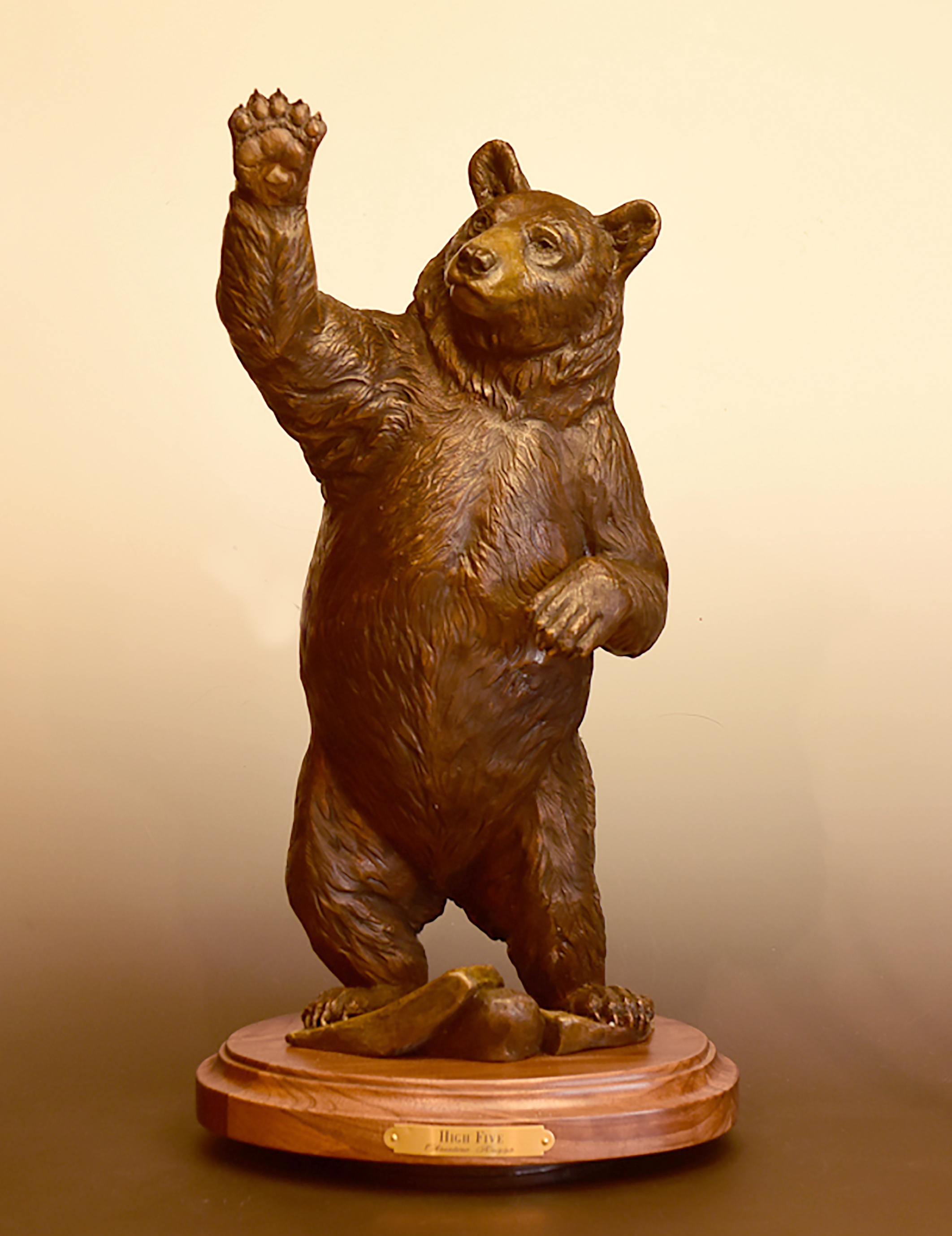 Hi Five maquette bronze front copy