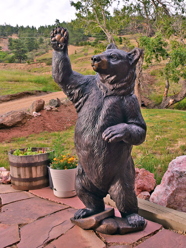 bear sculpture Christine Knapp High Five