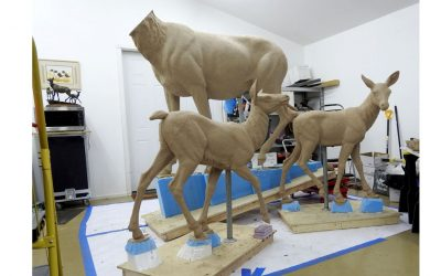 Elk Monument in progress