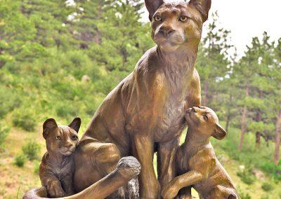 Chris Knapp Mountain Love large bronze