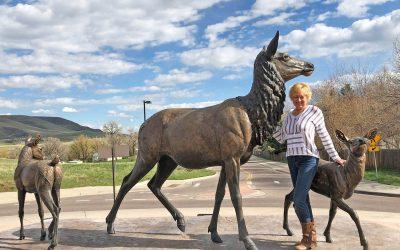Dedication of my new Elk Monument
